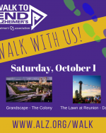 Join us at the Walk to End Alzheimer's October 1, 2016
